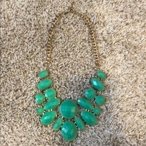 Forever 21 mint and gold statement necklace